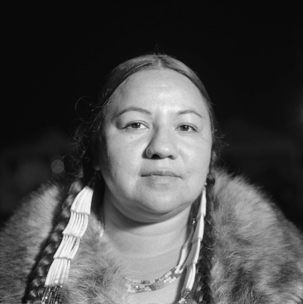 Portrait of an indigenous womans face